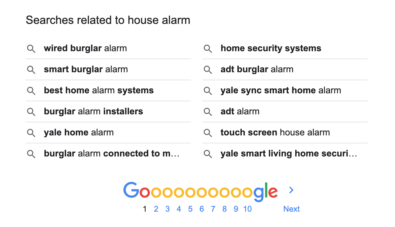 Related searches Google