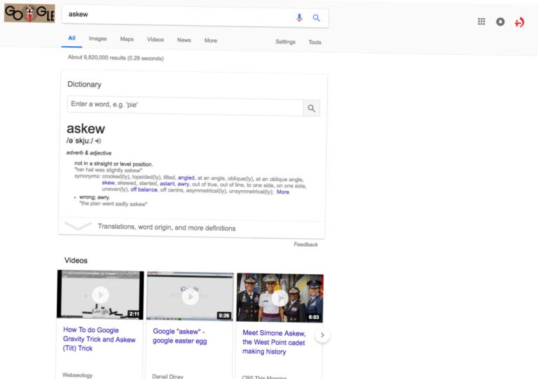 Askew Google