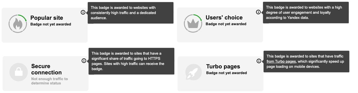 More info on SQI badges