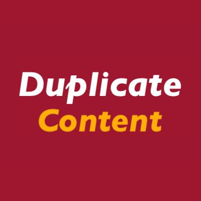Duplicate content