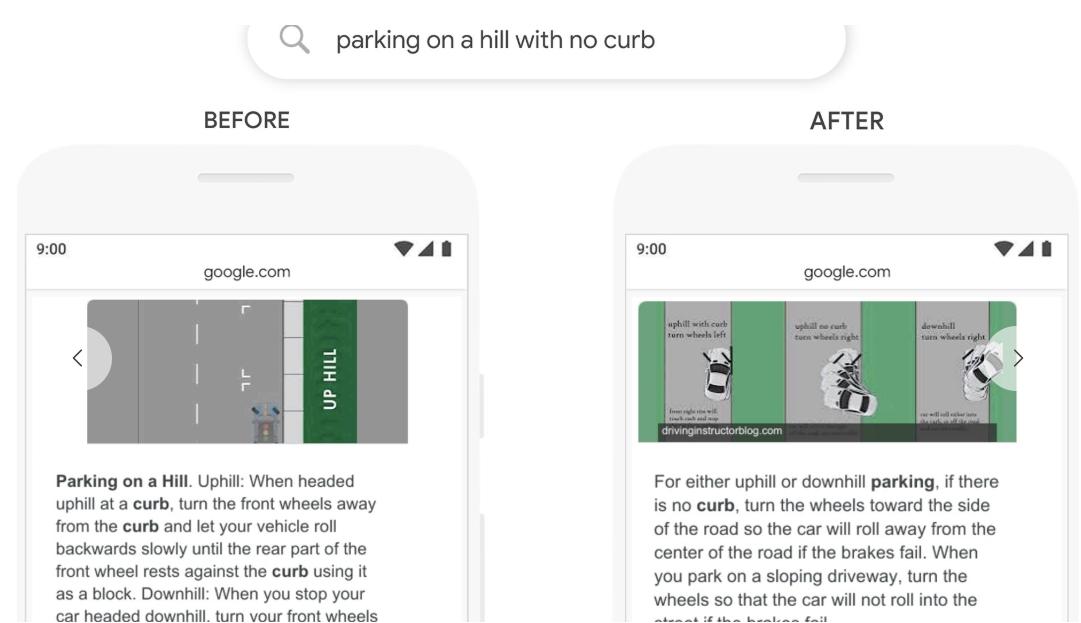 Featured snippets post Google BERT update