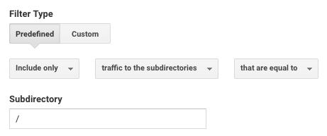 Filter example in Google Analytics
