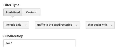 Another example of a filter in Analytics