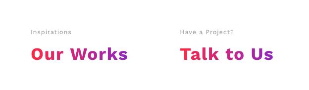 Gradient typography