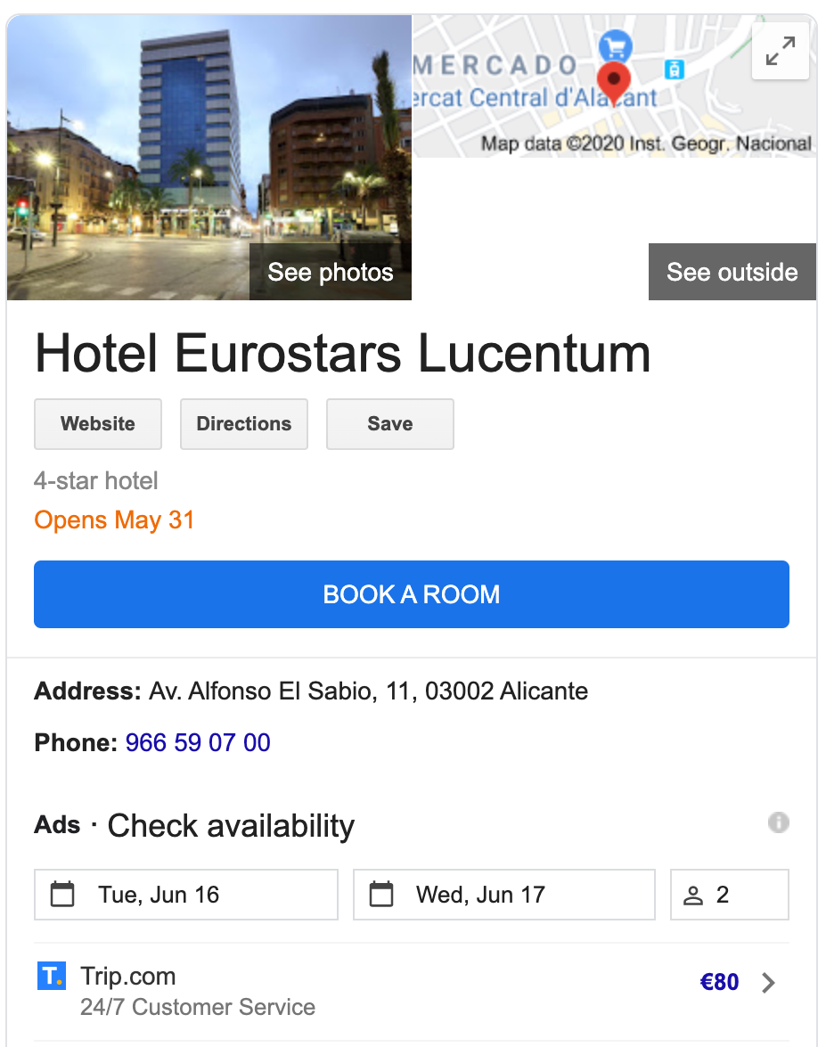 Hotel - local business