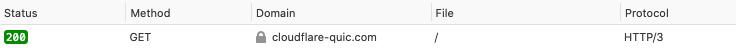 HTTP/3 check in Mozilla Firefox