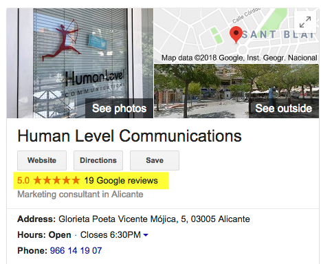 Human Level reviewed on Google Maps