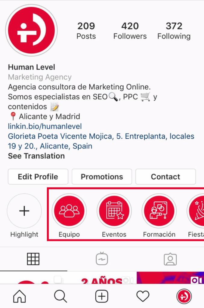 Customised icons for highlighted stories in Instagram