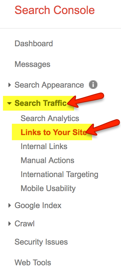 How to check inbound links on GSC