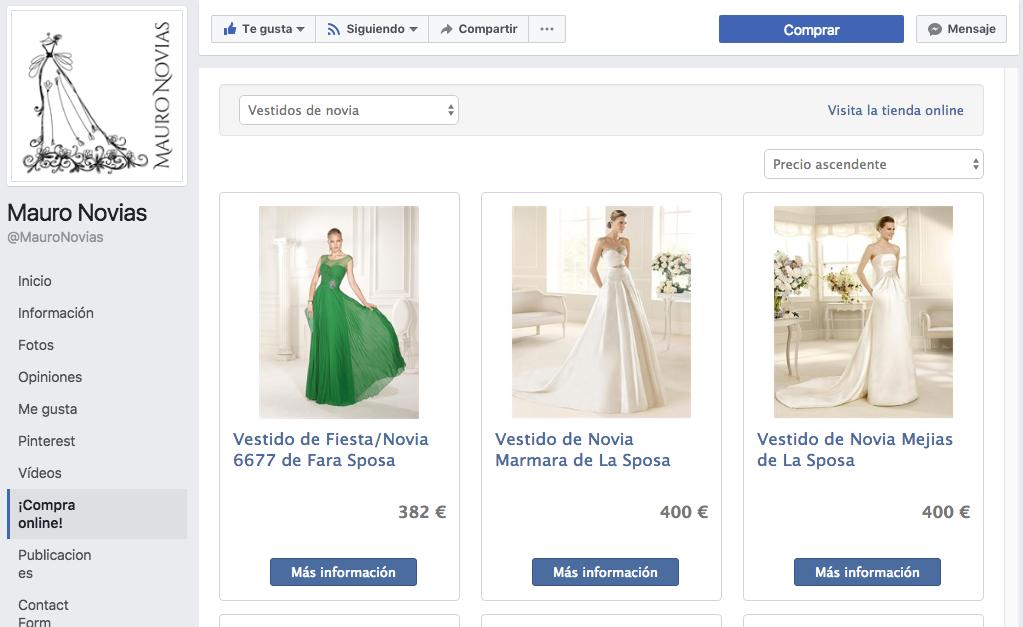 OptimizedStores implementation of a custom-developed Facebook shop