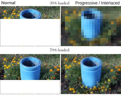 Progressive vs interlaced example