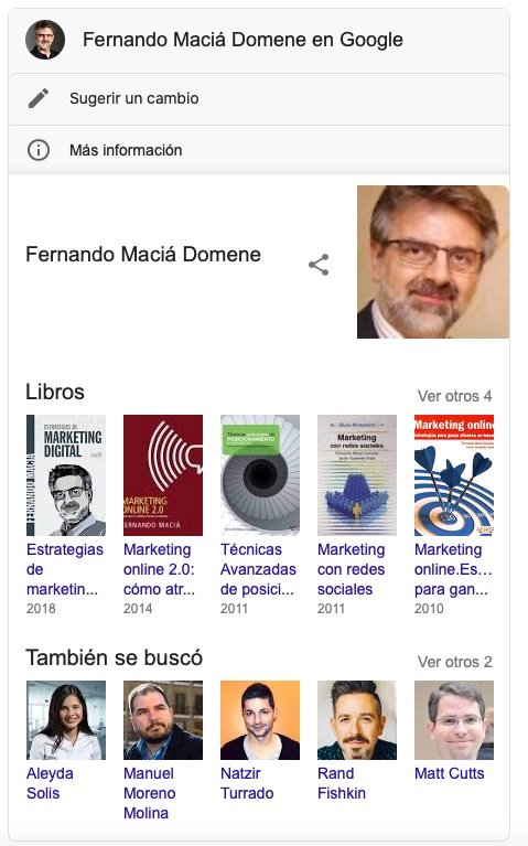 Fernando Macia results in Google