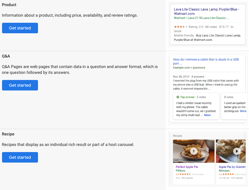 Google's search gallery