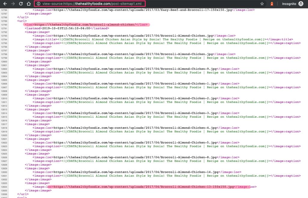 XML sitemap syntax
