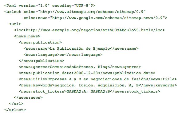 Sitemap news syntax
