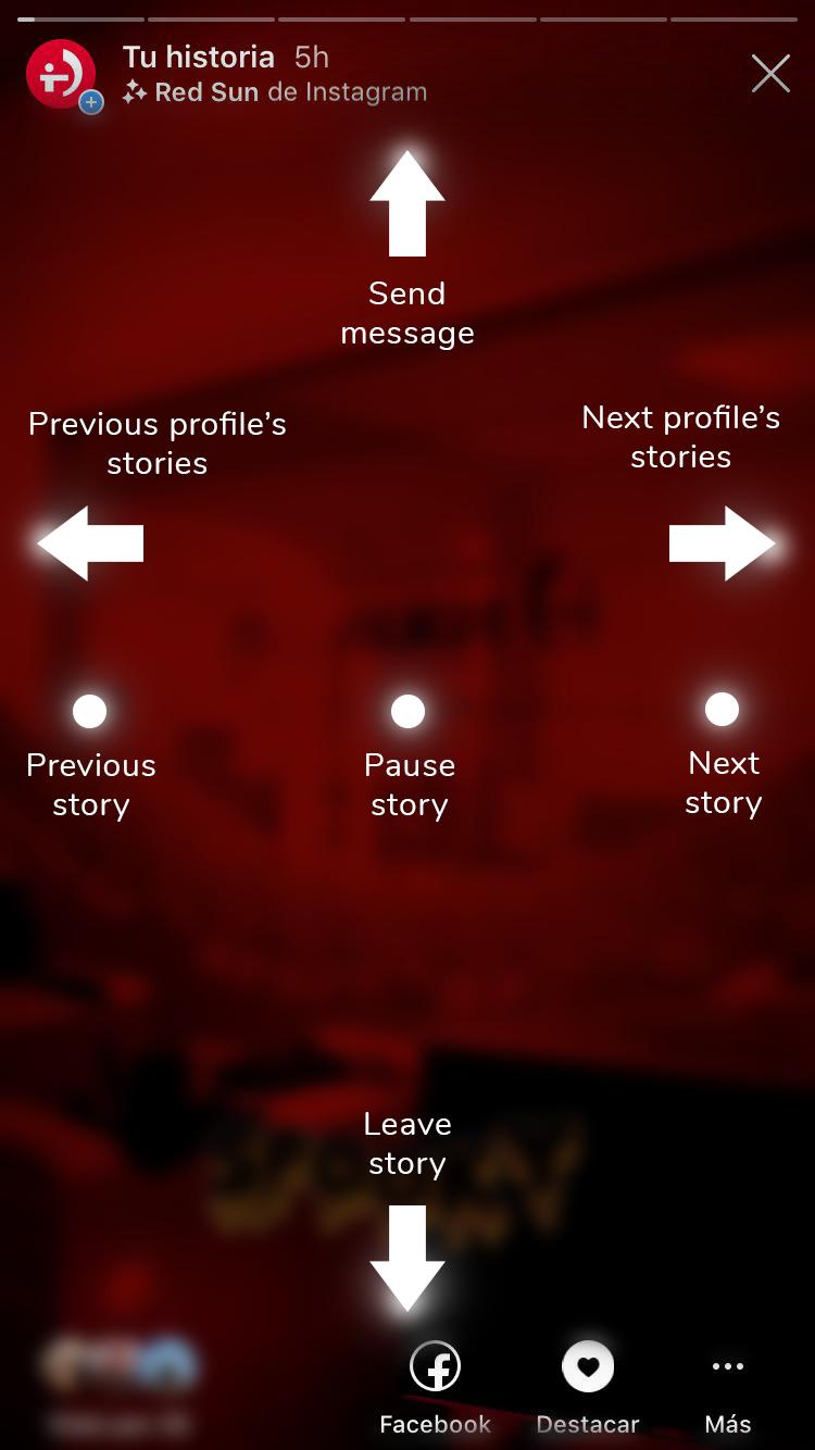 Navigation through stories