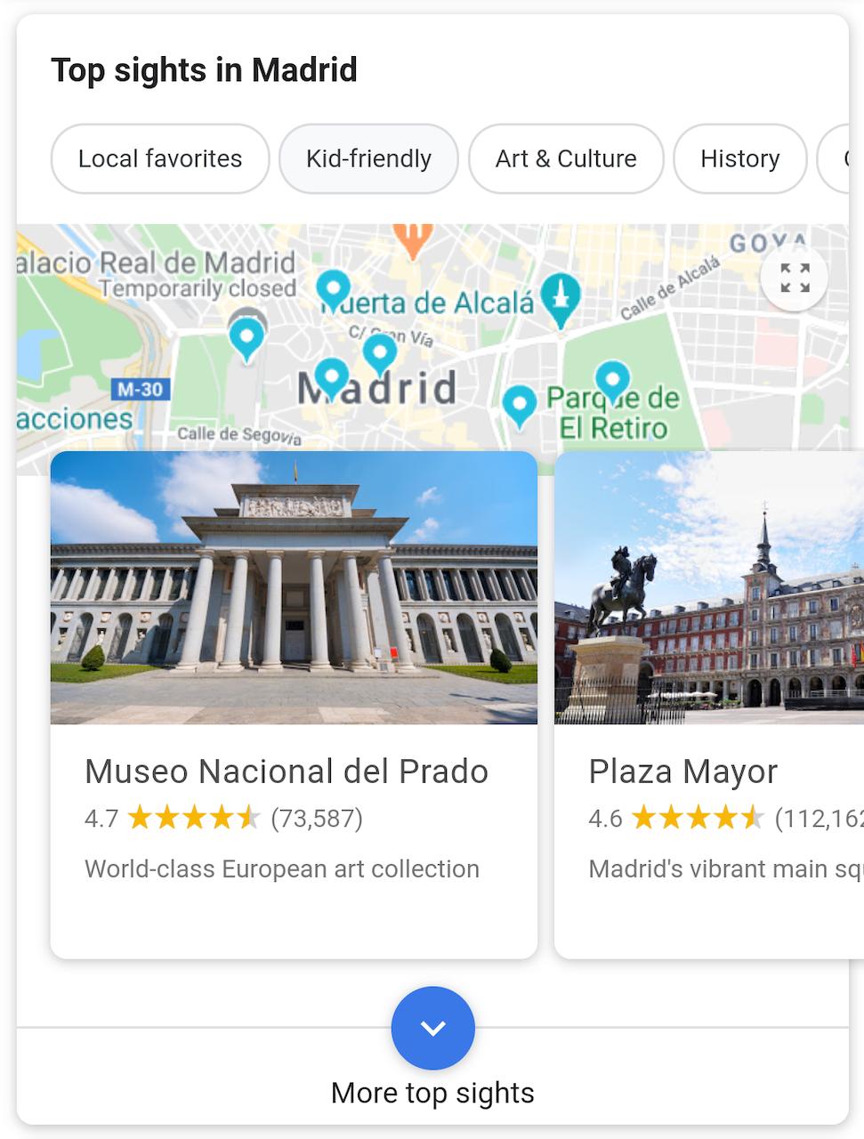 Top sights Google