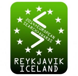 European Search Awards 2014 Reykjavik badge green
