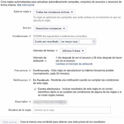 Aprende las diferentes reglas automatizadas que ofrece Facebook para controlar tu cuenta