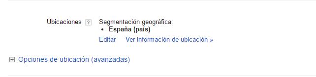 ubicaciones Administración de campañas  Google AdWords